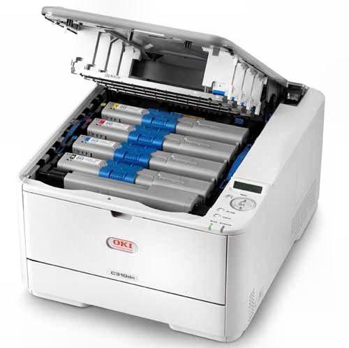 Цветной светодиодный принтер OKI с четырьмя картриджами