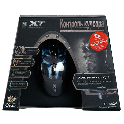 Купить Мышь A4 Tech XL-760H Black USB (XL-760H) фото 3