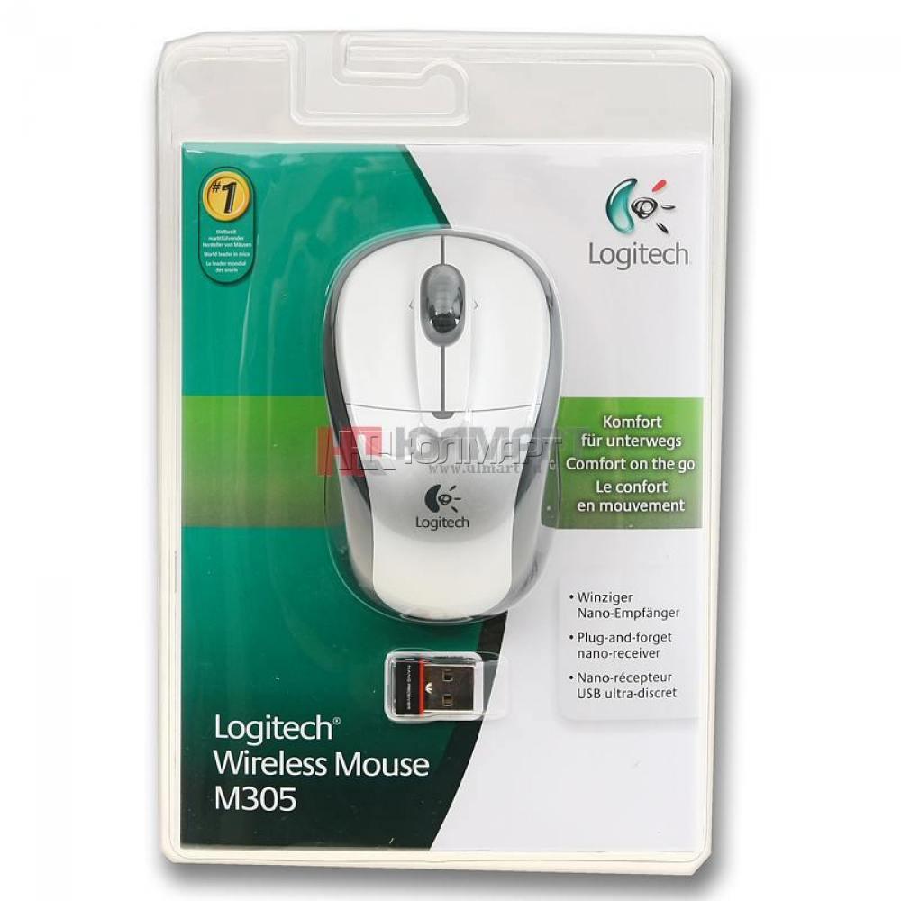 Купить Мышь Logitech Wireless Mouse M305 Silver-Black USB (910-000940) фото 3