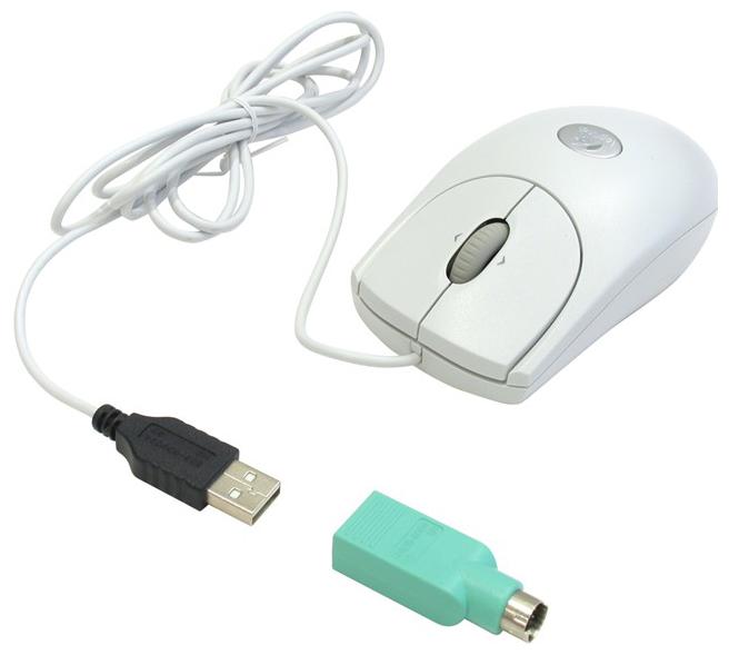 Купить Мышь Logitech RX250 Optical Mouse Grey USB+PS/2 (910-000185) фото 3