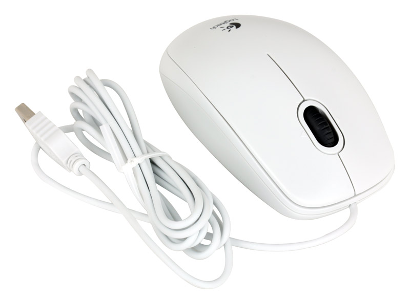 Купить Мышь Logitech B110 Optical Mouse USB White (910-001804) фото 2