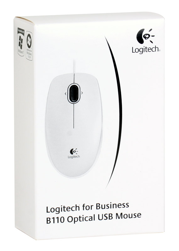 Купить Мышь Logitech B110 Optical Mouse USB White (910-001804) фото 3