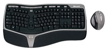 Купить Комплект клавиатура + мышь Microsoft Natural Wireless Ergonomic Desktop 7000 Black-Grey USB (WTA-00018) фото 1