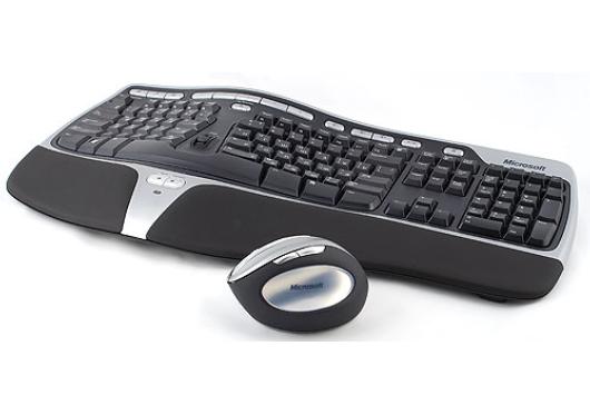 Купить Комплект клавиатура + мышь Microsoft Natural Wireless Ergonomic Desktop 7000 Black-Grey USB (WTA-00018) фото 2