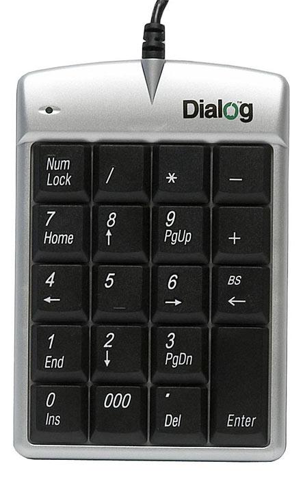 Купить Клавиатура Dialog NP-01SU Silver USB (NP-01SU) фото 2