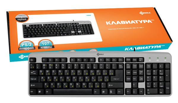 Купить Клавиатура Kreolz KS01sb Silver PS/2 (KS01sb) фото 2