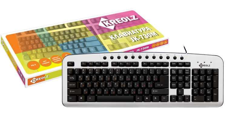 Купить Клавиатура Kreolz KM730 Silver-Black PS/2 (KM730) фото 2
