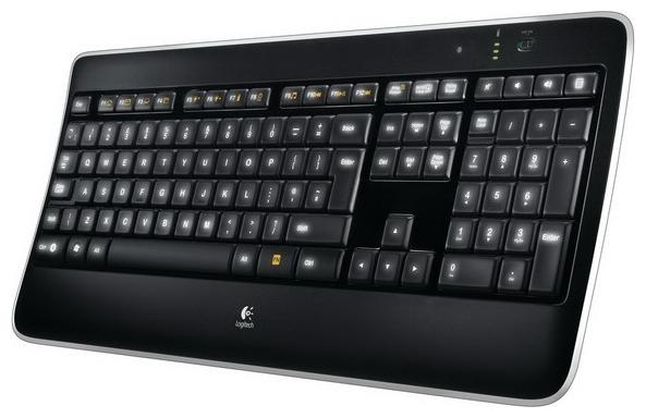 Купить Клавиатура Logitech Wireless Illuminated Keyboard K800 Black USB (920-002395) фото 1