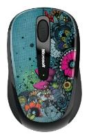 Купить Мышь Microsoft Wireless Mobile Mouse 3500 Artist Edition Linn Olofsdotter Green-Black USB (GMF-00149) фото 1