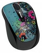 Купить Мышь Microsoft Wireless Mobile Mouse 3500 Artist Edition Linn Olofsdotter Green-Black USB (GMF-00149) фото 2