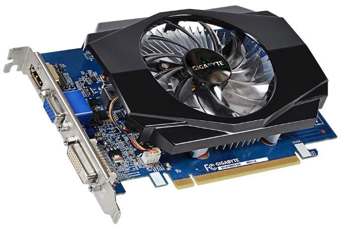 Купить Видеокарта Gigabyte GeForce GT 730 902Mhz PCI-E 2.0 2048Mb 1800Mhz 64 bit DVI HDMI HDCP (GV-N730D3-2GI) фото 1