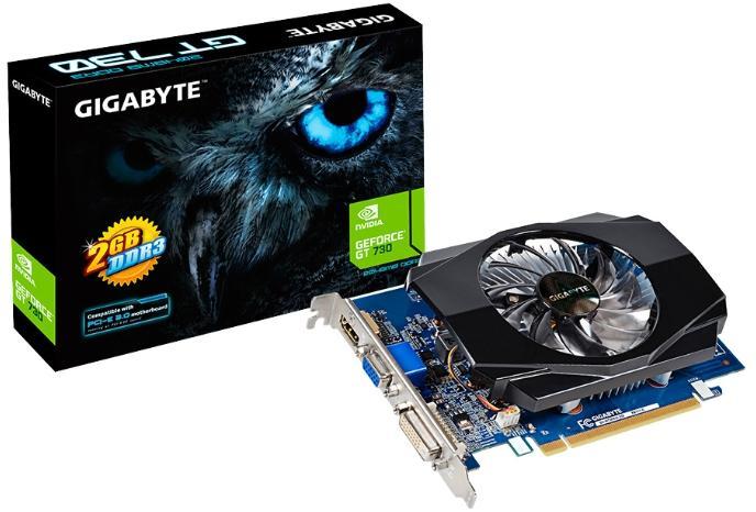 Купить Видеокарта Gigabyte GeForce GT 730 902Mhz PCI-E 2.0 2048Mb 1800Mhz 64 bit DVI HDMI HDCP (GV-N730D3-2GI) фото 2