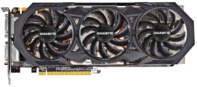 Купить Видеокарта Gigabyte GeForce GTX 970 1114Mhz PCI-E 3.0 4096Mb 7000Mhz 256 bit 2xDVI HDMI HDCP (GV-N970WF3OC-4GD) фото 1