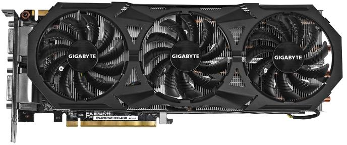 Купить Видеокарта Gigabyte GeForce GTX 980 1178Mhz PCI-E 3.0 4096Mb 7000Mhz 256 bit 2xDVI HDMI HDCP (GV-N980WF3OC-4GD) фото 1