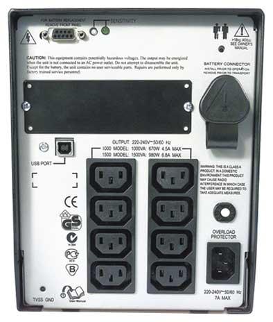 Купить ИБП APC Smart-UPS 1500VA USB & Serial 230V (SUA1500I) фото 2