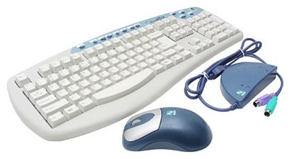 Комплект клавиатура + мышь A4 Tech KBS-535R White-Grey PS/2 фото #1