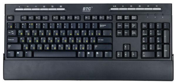 Клавиатура BTC 5309 Black USB 5309-PR фото #1