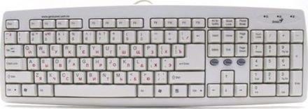 Клавиатура Genius Comfy KB-06 White PS/2