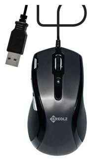 Мышь Kreolz ME04b Flame Black USB