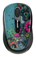 Мышь Microsoft Wireless Mobile Mouse 3500 Artist Edition Linn Olofsdotter Green-Black USB GMF-00149 фото #1