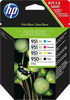 Струйный картридж HP 950XL/951XL комплект 4 цвета