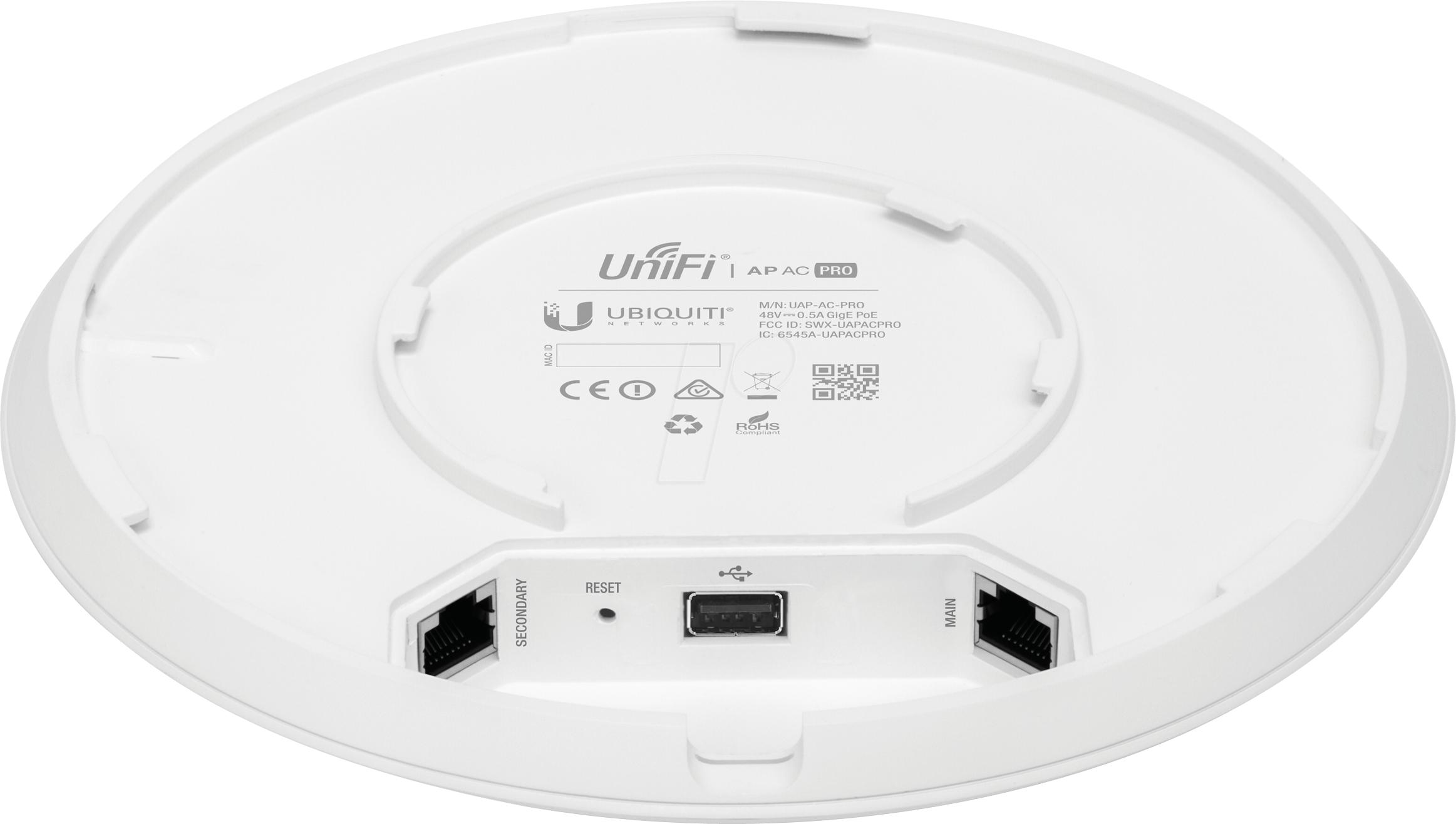 Промышленная высокоскоростная Wi-Fi точка доступа Ubiquiti UniFi AC PRO AP