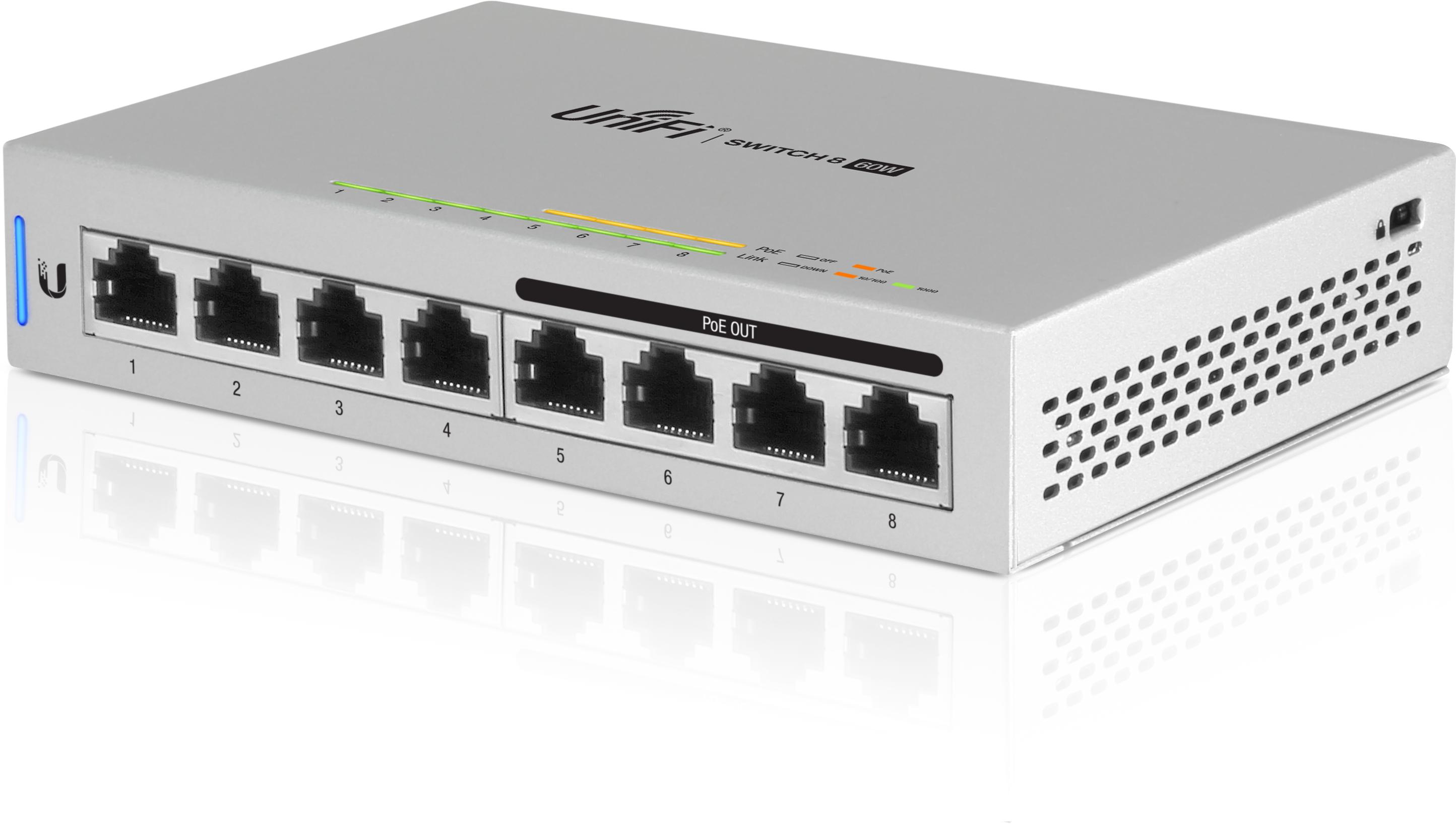 Коммутатор Ubiquiti UniFi Switch 8-60W