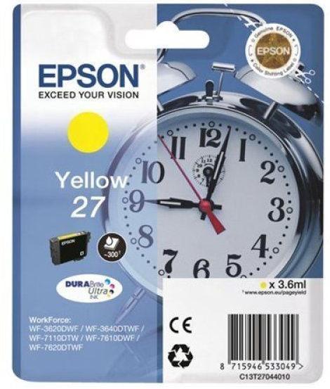 Струйный картридж Epson C13T27044022 желтый