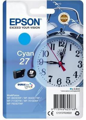 Струйный картридж Epson C13T27024022 голубой