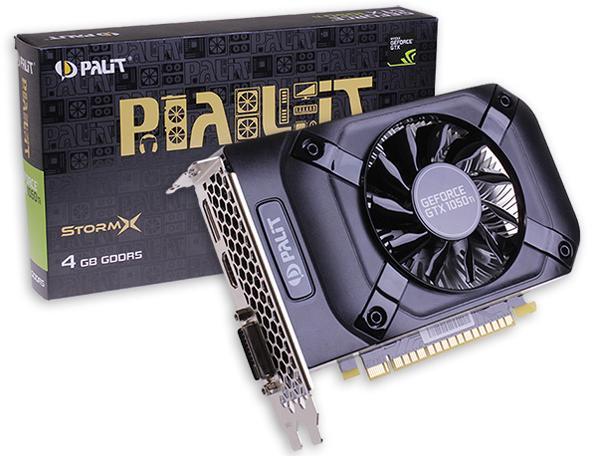 Видеокарта Palit GeForce GTX 1050 Ti STORMX NE5105T018G1-1070F фото #1