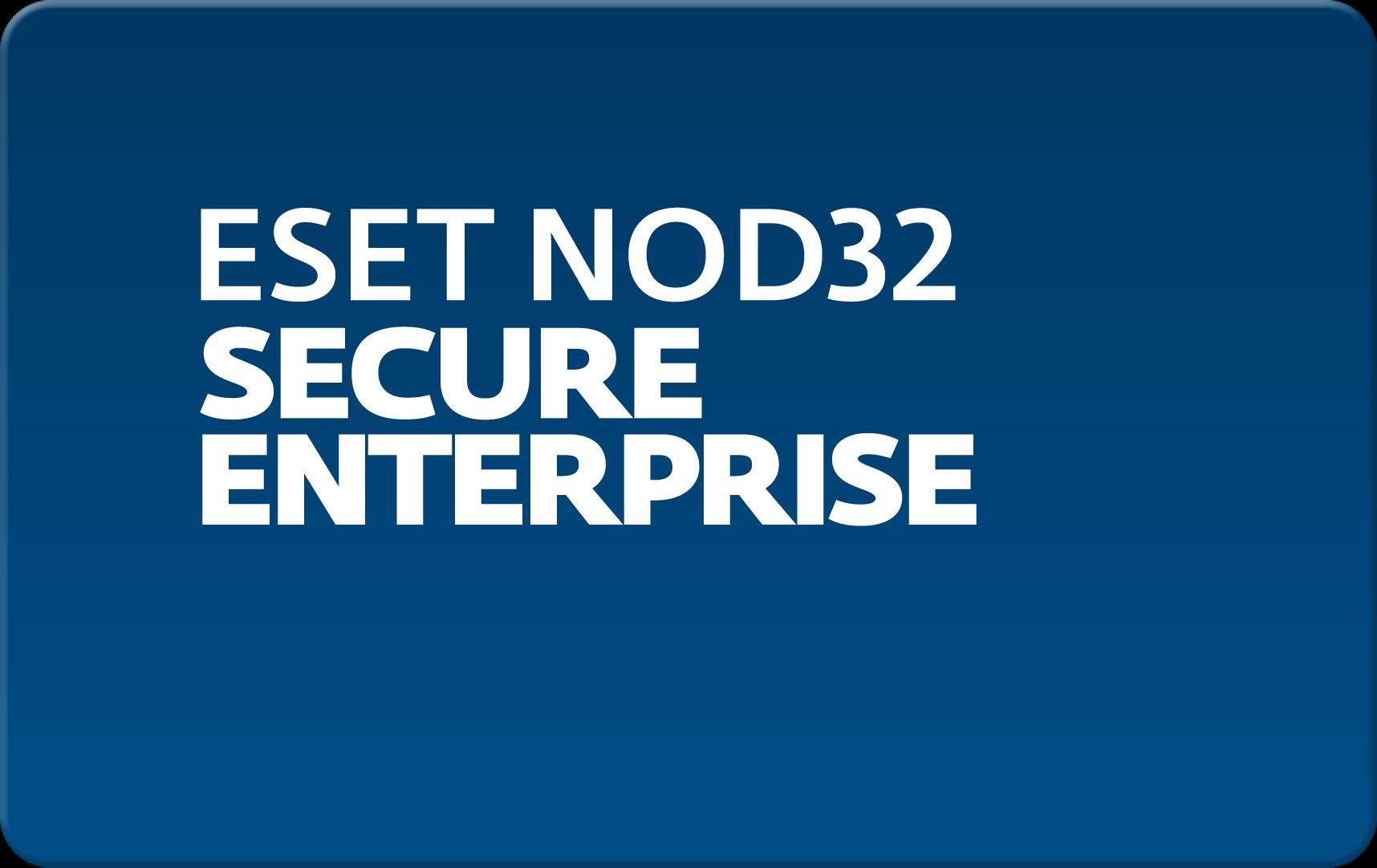 Кроссплатформенная антивирусная защита всех узлов корпоративной сети ESET Eset NOD32 Secure Enterprise  для 31 пользователей