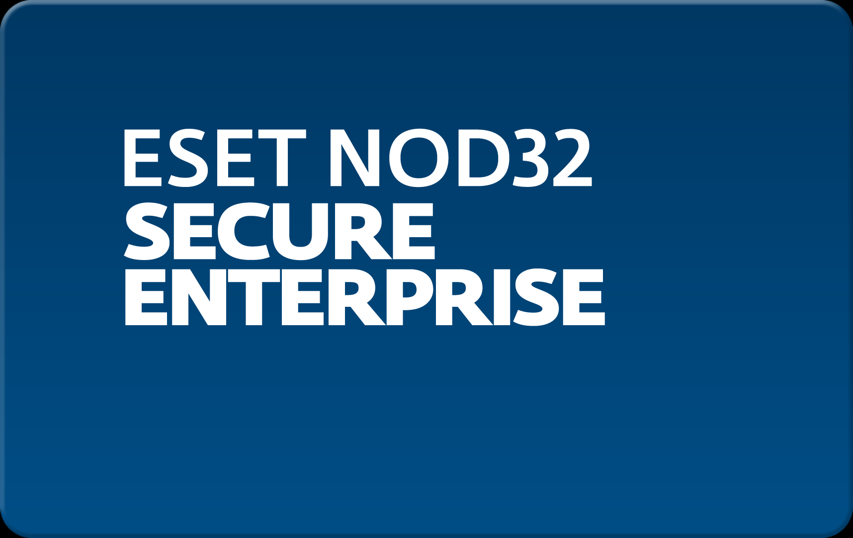 Кроссплатформенная антивирусная защита всех узлов корпоративной сети Eset NOD32 Secure Enterprise  для 65 пользователей