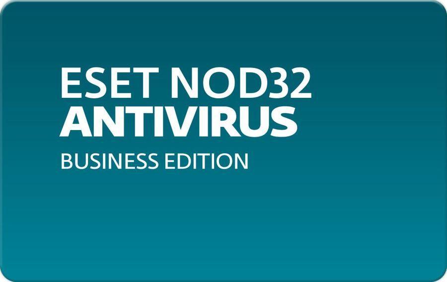 Антивирусная защита рабочих станций, мобильных устройств и файловых серверов Eset NOD32 Antivirus Business Edition  для 123 пользователей