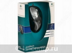 Купить Мышь Logitech Corded Mouse M500 Black USB (910-003725) фото 3
