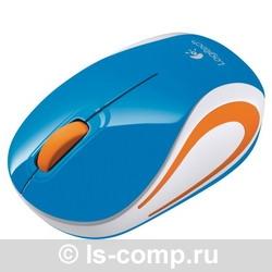 Купить Мышь Logitech Wireless Mini Mouse M187 Blue-Orange USB (910-002738) фото 2
