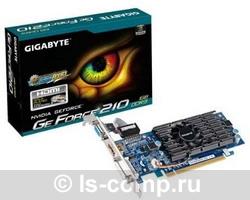 Купить Видеокарта Gigabyte GeForce 210 590Mhz PCI-E 2.0 1024Mb 1200Mhz 64 bit DVI HDMI HDCP (GV-N210D3-1GI) фото 2