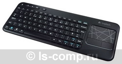 Купить Клавиатура Logitech Wireless Touch Keyboard K400 Black USB (920-003130) фото 3