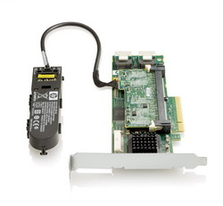 HP Smart Array P410/1GB with Flash BWC Controller RAID 0,1,1+0,5,5+0 (8 link: 2 int (SFF8087) ports SAS) PCI-E x8, incl. h/h & f/h. brckts 572532-B21