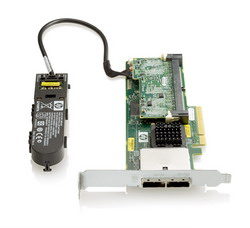 HP Smart Array P411/1GB with Flash BWC Controller RAID 0,1,1+0,5,5+0 (8 link: 2 ext (SFF8088) ports SAS) PCI-E x8, incl. h/h & f/h. brckts 572531-B21