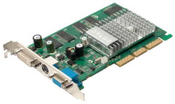 GeForce FX 5200 240 Mhz AGP 256 Mb 333 Mhz 128 bit DVI TV ZT-52FA250-HSS
