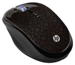 Мышь HP Wireless Optical Mouse Black Cherry USB