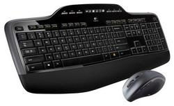 Комплект клавиатура + мышь Logitech Wireless Desktop MK710 Black-Silver USB