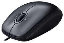 Мышь Logitech Mouse M100 Black USB 910-001604