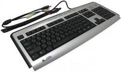 Клавиатура A4 Tech KLS-23MU Silver-Black USB+PS/2