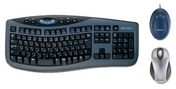 Комплект клавиатура + мышь Microsoft Wireless Optical Desktop 3000 Black-Blue USB MFC-00019