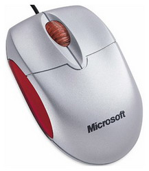 Мышь Microsoft Notebook Optical Mouse Silver-Red USB