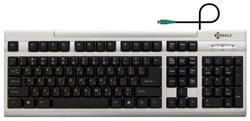 Клавиатура Kreolz KS302sb Silver PS/2