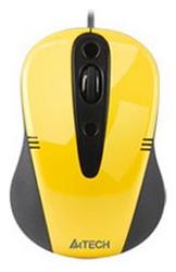 Мышь A4 Tech Q4-370X-3 Yellow USB