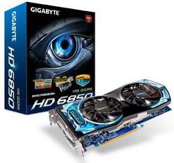 Radeon HD 6850 820Mhz PCI-E 2.1 1024Mb 4200Mhz 256 bit 2xDVI HDMI HDCP GV-R685OC-1GD