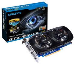 GeForce GTX 460 SE 730Mhz PCI-E 2.0 1024Mb 3400Mhz 256 bit 2xDVI Mini-HDMI HDCP GV-N460SE-1GI
